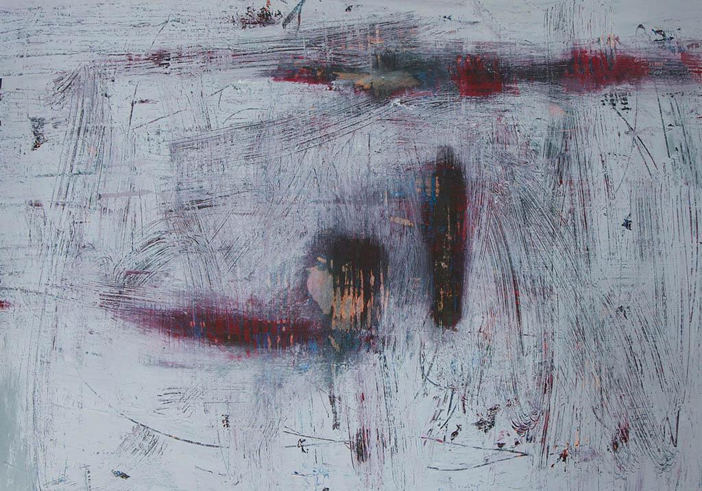Arienne Molenaar - Schilderijen - A5 - Figuren in een landschap