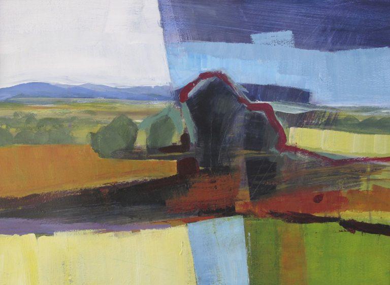 Arienne Molenaar - Schilderijen - F2 - Frans landschap 'grande neuve' geabstraheerd