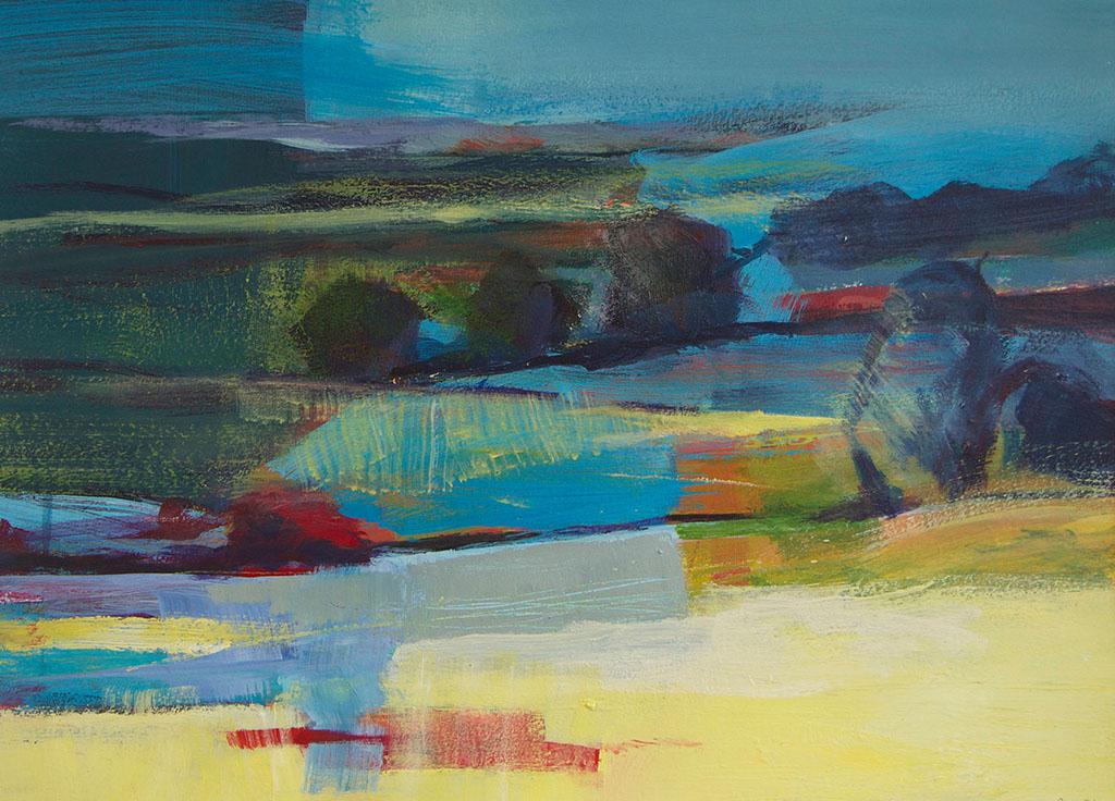 Arienne Molenaar - Schilderijen - F6 - Frans landschap geabstraheerd