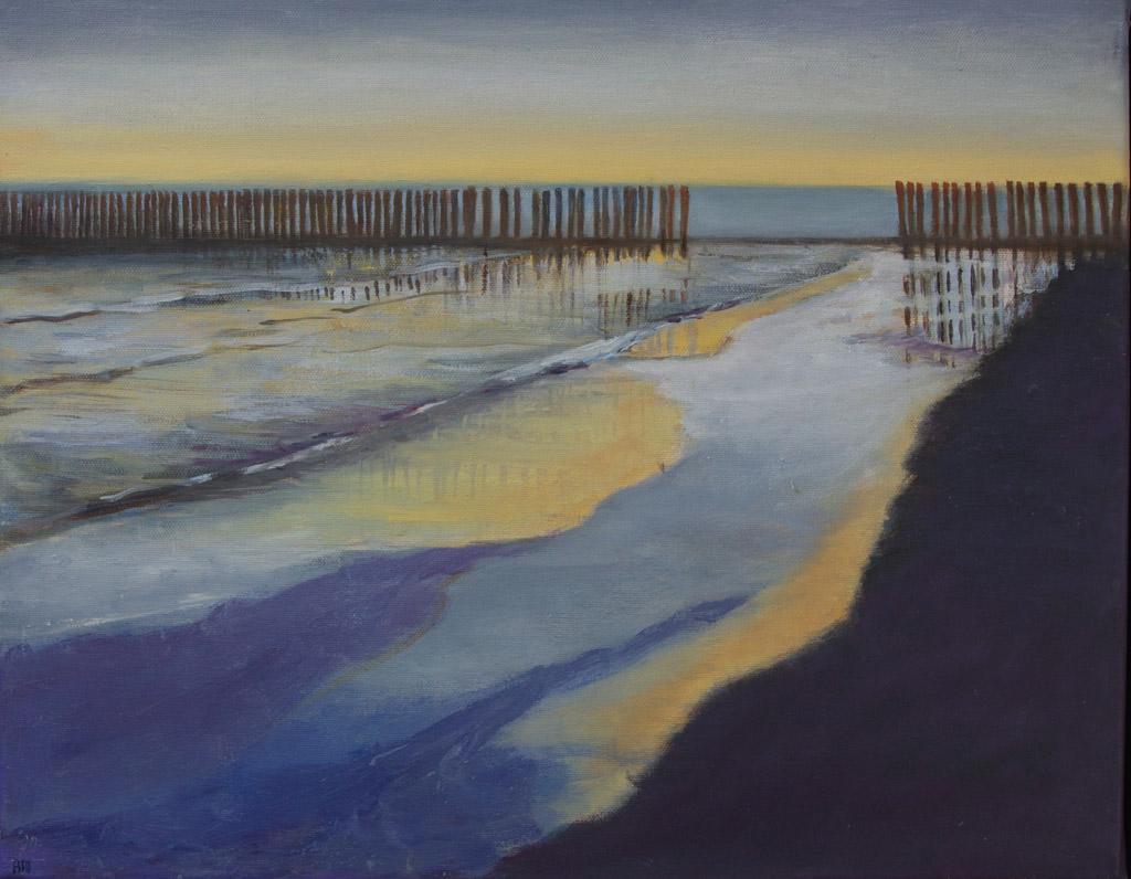 Arienne Molenaar - Schilderijen - Z10 - Zeegezicht