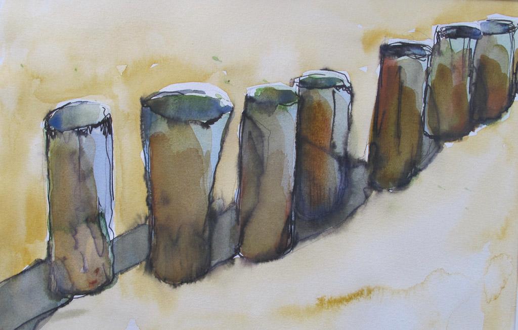 Arienne Molenaar - Schilderijen - Z12 - Paaltjes