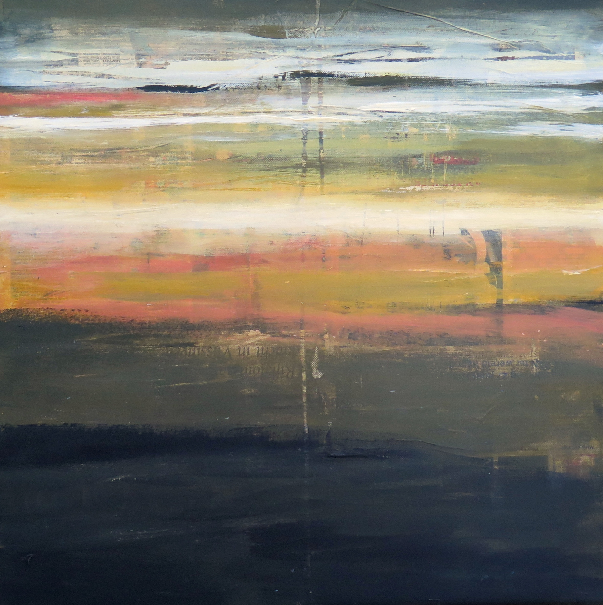 Arienne Molenaar - Schilderijen - Z21 - Zee bij avond geabstraheerd