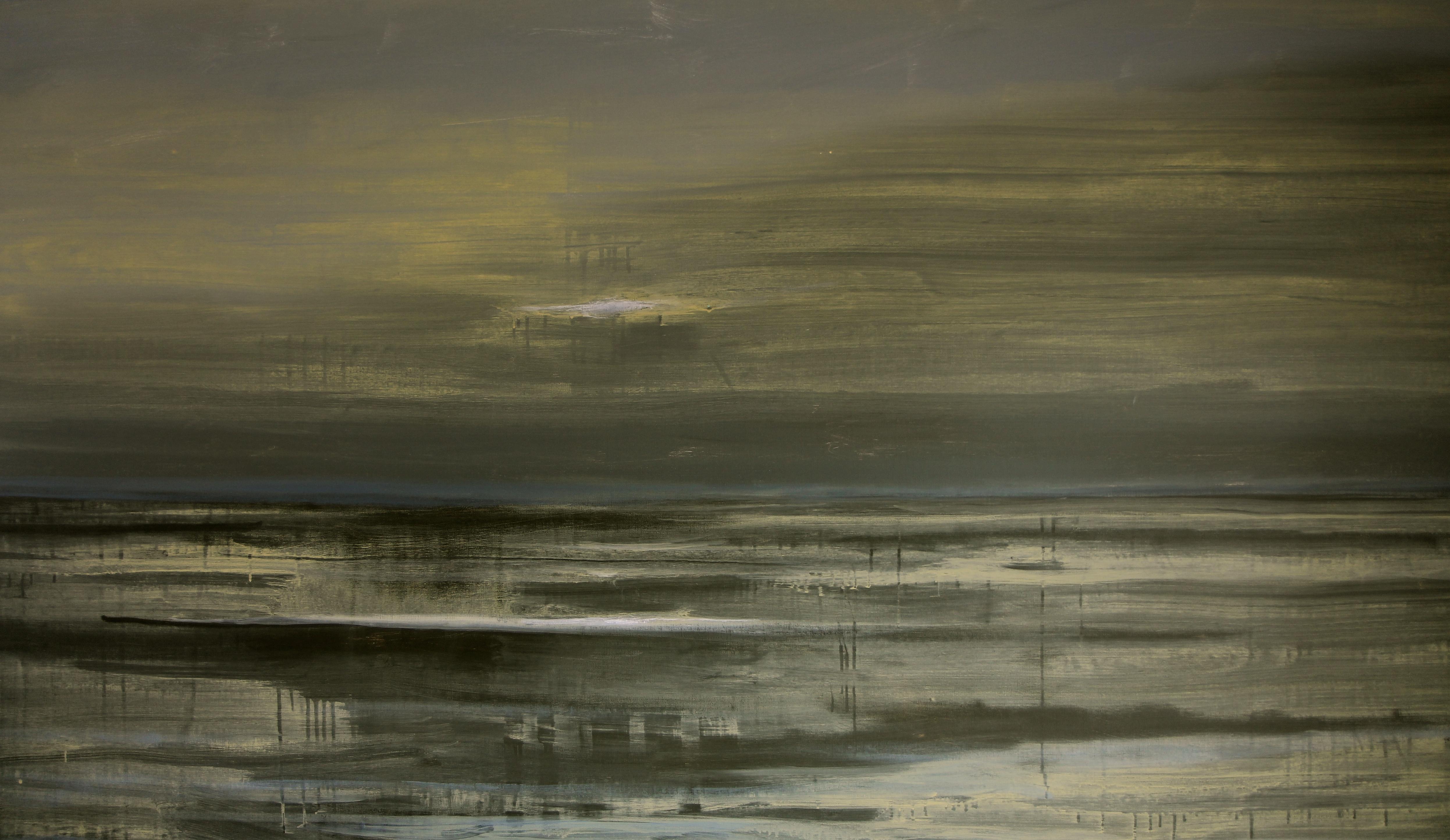 Arienne Molenaar - Schilderijen - Z29 - Zee bij nacht