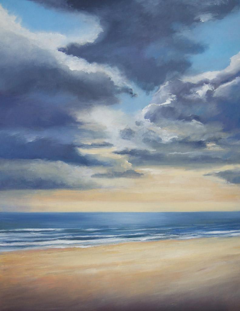 Arienne Molenaar - Schilderijen - Z8 - Wolkenlucht boven zee