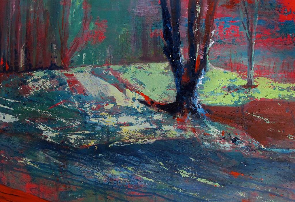 Arienne Molernaar - Schilderijen - F16 - Bos bij Les Fumades